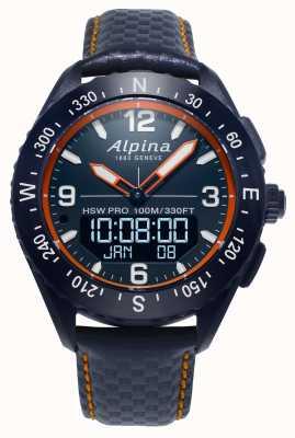 Alpina x smartwatch marineblaues Lederarmband AL-283LNO5NAQ6L