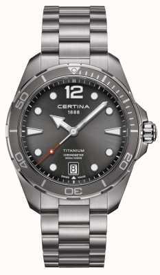 Certina Ds Aktion | Titanarmband | graues Zifferblatt | cosc C0324514408700
