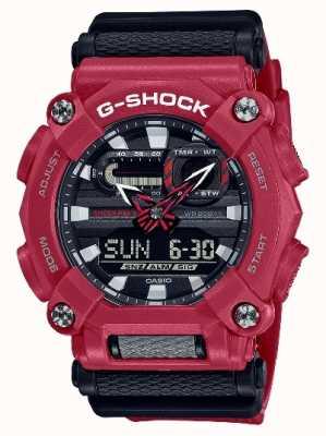 Casio G-Schock | schwere | Weltzeit | rotes Harz GA-900-4AER