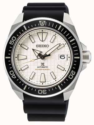 Seiko Männer Prospex | schwarzes Silikonband | beige Zifferblatt SRPE37K1