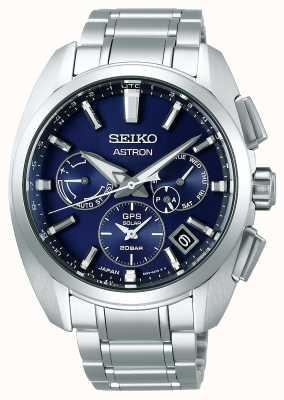 Seiko Astron   Titan   Herren   Solar   blaues Zifferblatt   Uhr SSH065J1