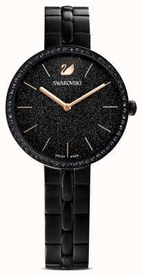 Swarovski Weltoffen | schwarzes pvd-plattiertes armband | schwarzes glitzerndes zifferblatt 5547646