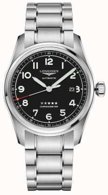 Longines Spirit 42mm Prestige Edition Edelstahl schwarzes Zifferblatt L38114539