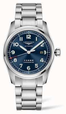 Longines Spirit 42mm Edelstahl blaues Zifferblatt Automatik L38114936