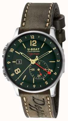 U-Boat 1938 Doppiotempo Dual Time grünes Zifferblatt 8500