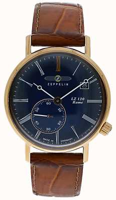 Zeppelin | lz120 rom lady | braunes Lederband | blaues Zifferblatt | 7137-3