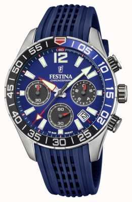 Festina Herren Chronograph | blaues Silikonband | blaues Zifferblatt F20517/1