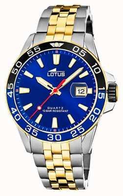 Lotus Zweifarbiges Stahlarmband für Herren | blaues Zifferblatt L18768/1