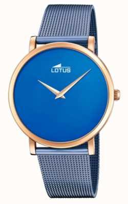 Lotus Blaues Stahlarmband für Damen | blaues Zifferblatt | Roségoldgehäuse L18773/2