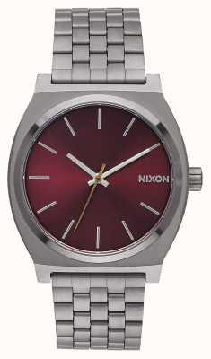 Nixon Zeitmesser | Rotguss / tiefes Burgund | Gunmetal IP Armband | Burgunder Zifferblatt A045-2073-00