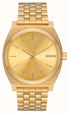 Nixon Zeitmesser | alles Gold / Gold | Gold IP Armband | goldenes Zifferblatt A045-511-00