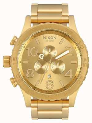 Nixon 51-30 chrono | alles Gold | Gold IP Armband | goldenes Zifferblatt A083-502-00