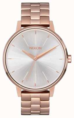 Nixon Kensington | Roségold / Weiß | Ross Gold IP Armband | silbernes Zifferblatt A099-1045-00