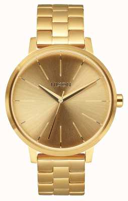 Nixon Kensington | alles Gold | Gold IP Stahl Armband | goldenes Zifferblatt A099-502-00