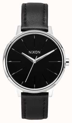Nixon Kensington Leder | schwarz | schwarzes Lederband | schwarzes Zifferblatt A108-000-00