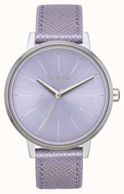 Nixon Kensington Leder | Lavendel | Lavendel Lederband | Lavendel Zifferblatt A108-236-00