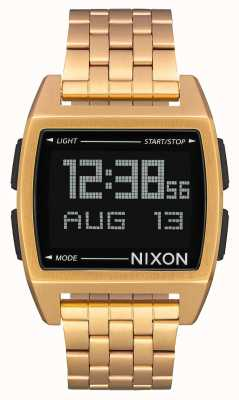 Nixon Basis | alles Gold | digital | Gold IP Stahl Armband A1107-502-00