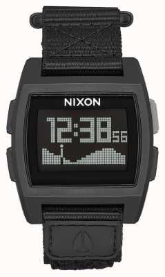 Nixon Grundflut Nylon | alles schwarz | digital | schwarzes Nylonband A1169-001-00