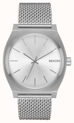 Nixon Zeitzähler milanese | alles silber | Edelstahlgewebe | silbernes Zifferblatt A1187-1920-00