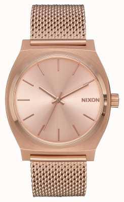 Nixon Zeitzähler milanese | alles roségold | roségold ip mesh | roségoldenes Zifferblatt A1187-897-00