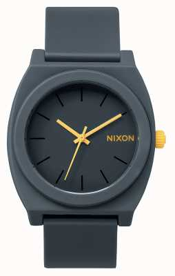 Nixon Zeitmesser p | matt stahlgrau | graues Silikonband | graues Zifferblatt A119-1244-00