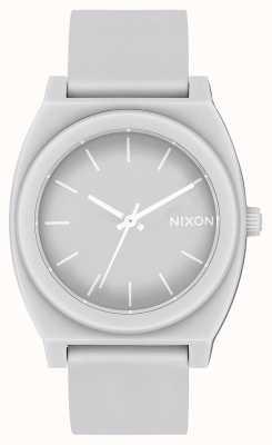 Nixon Zeitmesser p | matt kühl grau | graues Silikonband | graues Zifferblatt A119-3012-00