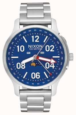 Nixon Aufsteiger | silber / blau | Edelstahlarmband | blaues Zifferblatt A1208-722-00