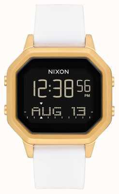 Nixon Sirene ss | Gold / Weiß | digital | weißes Silikonband A1211-508-00