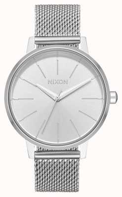 Nixon Kensington milanese | alles Silber | Edelstahlgewebe | silbernes Zifferblatt A1229-1920-00