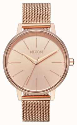 Nixon Kensington milanese | alles roségold | roségold ip mesh | roségoldenes Zifferblatt A1229-897-00