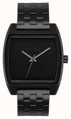 Nixon Zeiterfassung | alles schwarz | schwarzes IP Stahlarmband | schwarzes Zifferblatt A1245-001-00