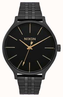 Nixon Clique | alles schwarz | schwarzes IP Stahlarmband | schwarzes Zifferblatt A1249-001-00