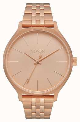 Nixon Clique | alles roségold | roségold ip stahlarmband | roségoldenes Zifferblatt A1249-897-00