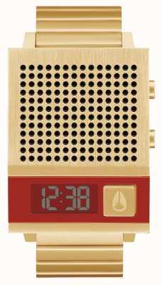 Nixon Dork auch | alles Gold | digital | Gold IP Stahl Armband | reden A1266-502-00