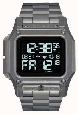 Nixon Regulus ss | Rotguss | digital | Gunmetal IP Stahl Armband A1268-131-00