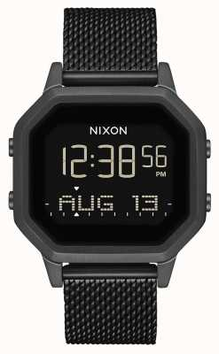 Nixon Sirene milanese | alles schwarz | digital | schwarzes IP-Stahlgitter | A1272-001-00