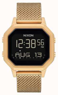 Nixon Sirene milanese | alles Gold | digital | Gold IP Stahl Mesh Armband A1272-502-00