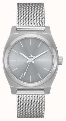 Nixon Mittelzeitkenner milanese | alles Silber | Edelstahlgewebe | silbernes Zifferblatt A1290-1920-00