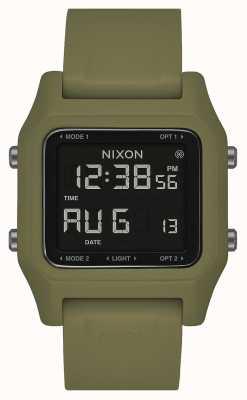 Nixon Heften | oliv | digital | olivgrünes Silikonband A1309-333-00