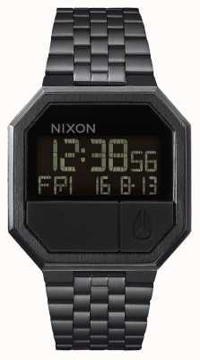 Nixon Führen Sie | erneut aus alles schwarz | digital | schwarzes IP-Stahlarmband A158-001-00