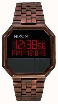 Nixon Führen Sie | erneut aus antikes Kupfer | digital | kupferfarbenes IP-Stahlarmband A158-894-00