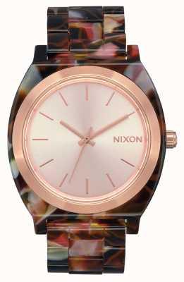 Nixon Zeitzähleracetat | roségold / rosa schildkröte | roségoldenes Zifferblatt A327-3233-00
