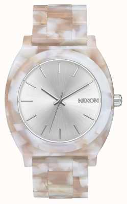 Nixon Zeitzähleracetat | pink / silber | silbernes Zifferblatt A327-718-00