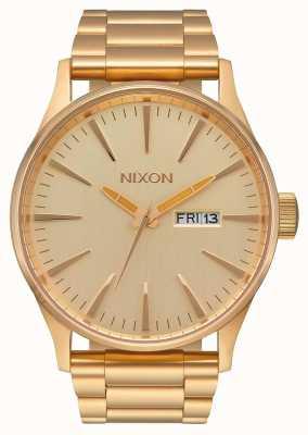 Nixon Wachposten ss | alles Gold | Gold IP Stahl Armband | goldenes Zifferblatt A356-502-00