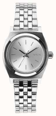 Nixon Kleiner Zeitzähler | alles Silber | Edelstahlarmband Silber Zifferblatt A399-1920-00