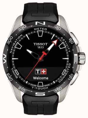 Tissot T-touch connect solar | schwarzes Silikonband T1214204705100