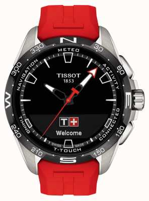 Tissot T-touch connect solar | rotes Silikonband T1214204705101