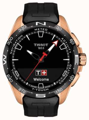 Tissot T-touch connect solar | schwarzes Silikonband T1214204705102