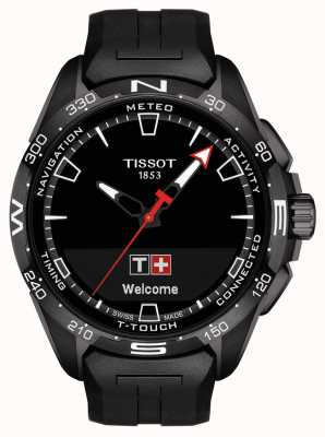 Tissot T-touch connect solar | schwarzes Silikonband T1214204705103