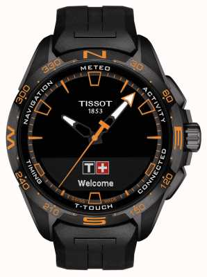 Tissot T-touch connect solar | schwarzes Silikonband T1214204705104